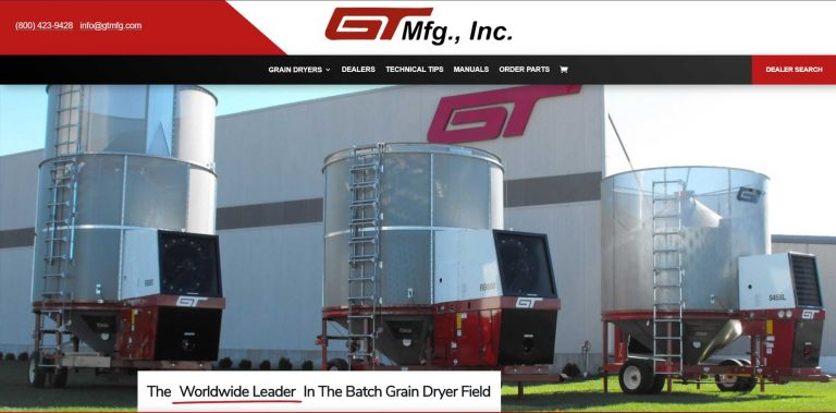 GT Mfg, Inc. - Clay Center Kansas - Custom Web Design
