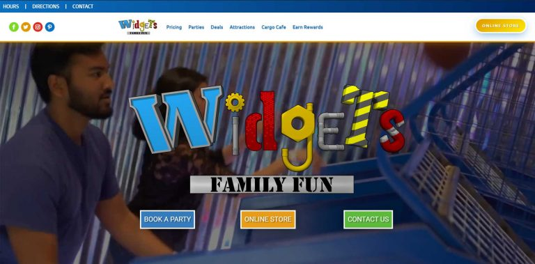 Widgets Family Fun - Kansas Website Design