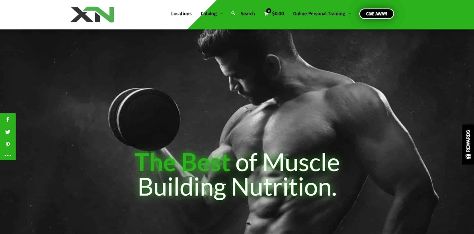 Xclusive Nutrition - Kansas Web Design