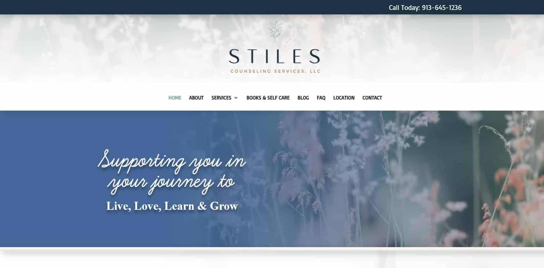 Stiles Counseling Services custom website design by MKS Web Design