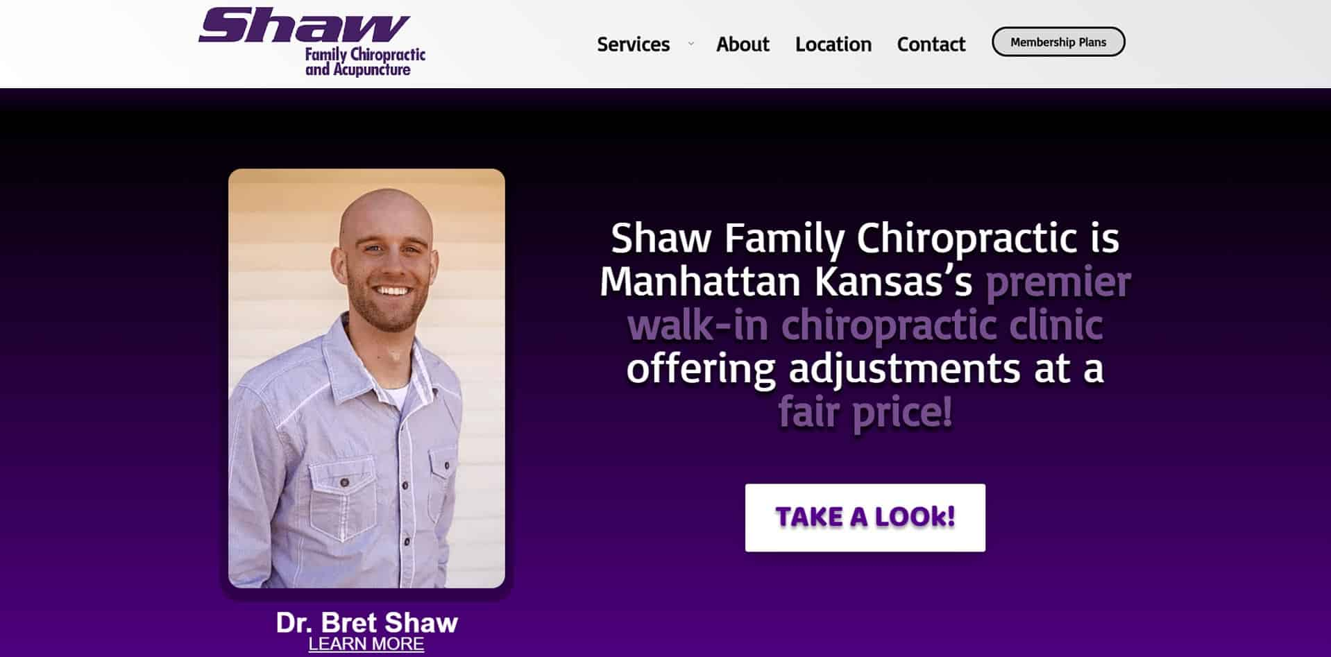 Shaw Family Chiropractic - Manhattan KS Web Design with MKS