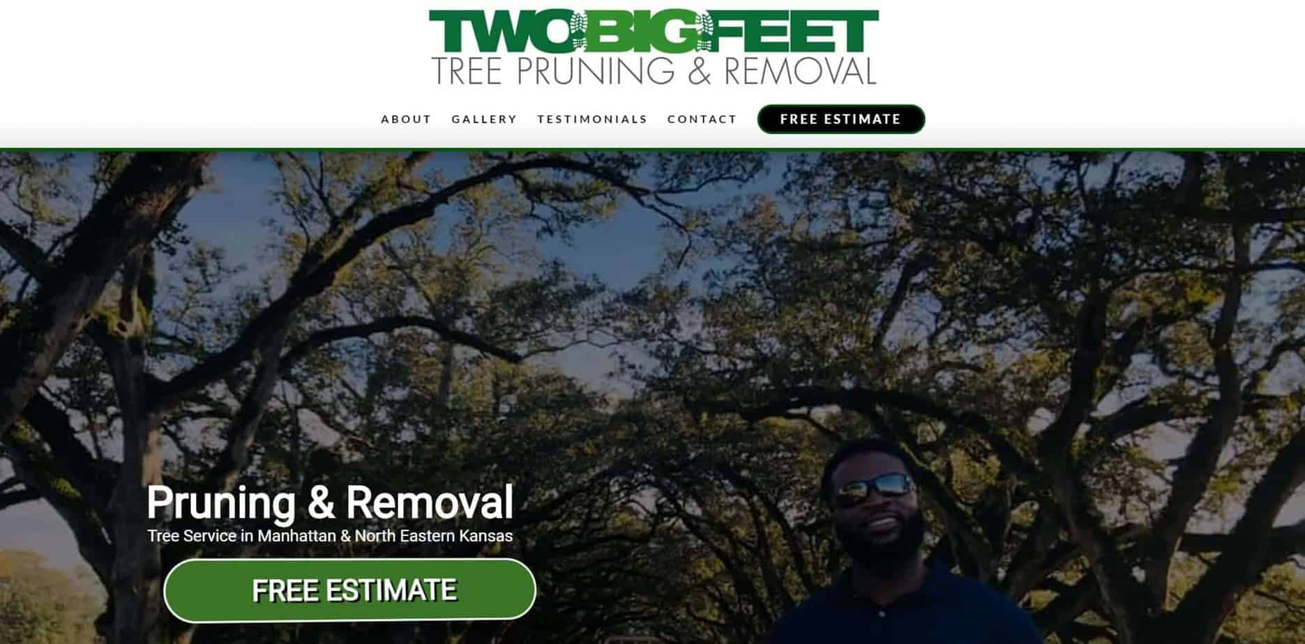 Two Big Feet Tree Pruning and Removal - Website Design