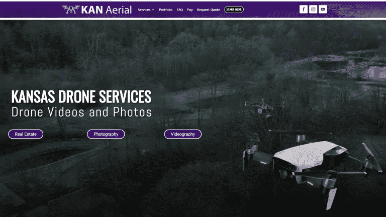 MKS Web Design created the website for KAN Aerial