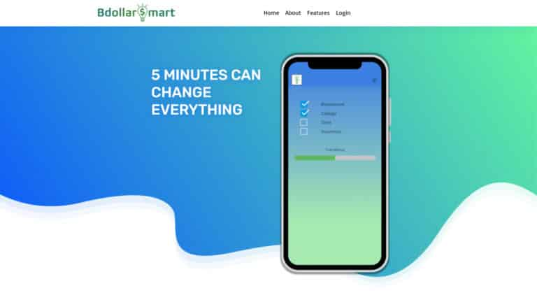 MKS Web Design created the website for bdollarsmart